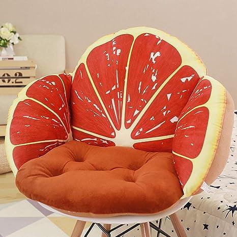 Amazon.com: Cojín de sofá con forma de fruta, cojín de suelo ...