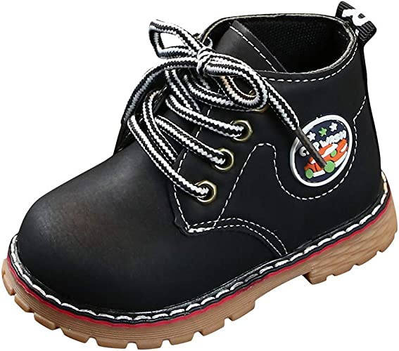 Deloito Children Shoes Child Fashion Boys Girls Sneaker Boots Autumn Winter Warm Thick Baby Kids Casual Shoes Leather Snow Shoes Black