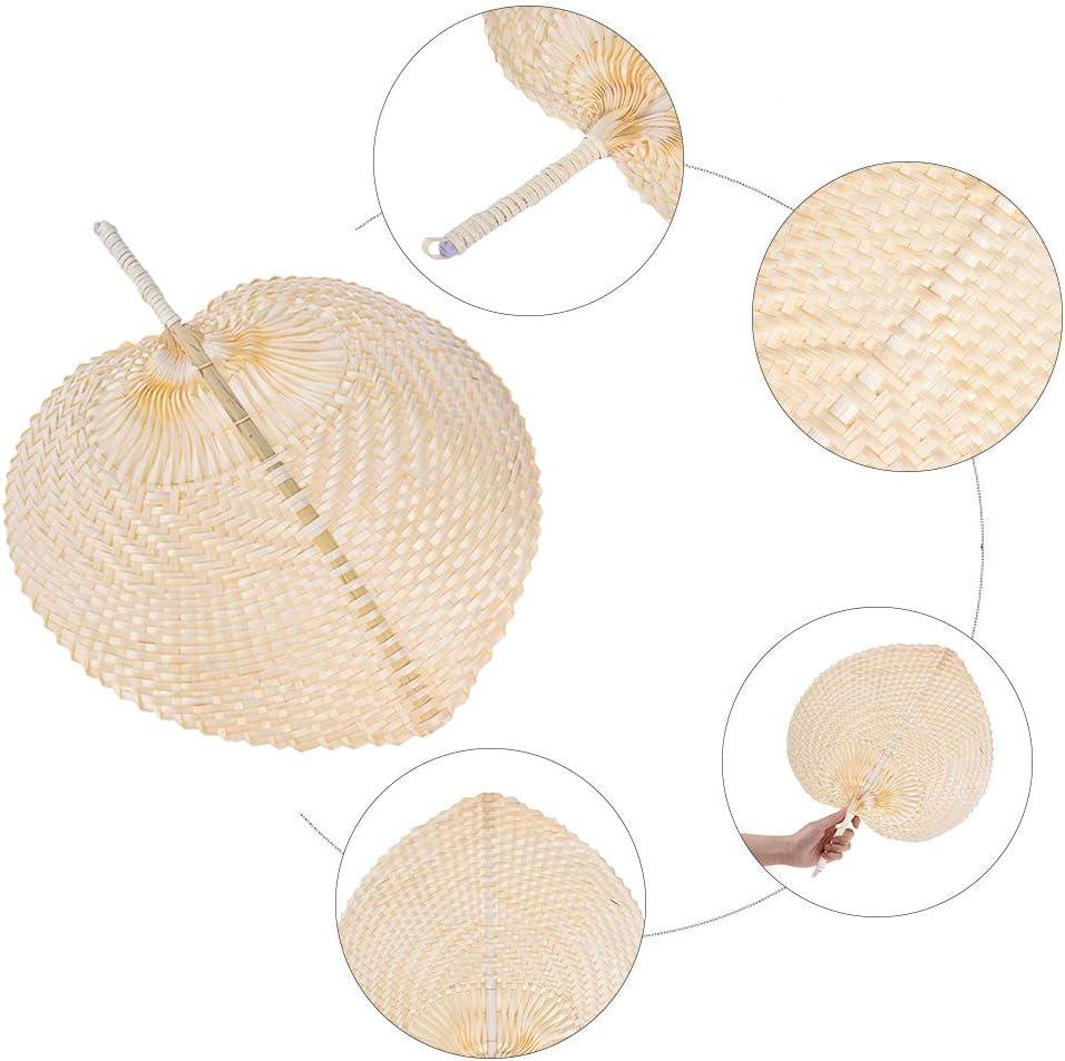 Abanico de hojas de palma hecho a mano ventilador de estilo palm-Leaf A//N color natural hecho a mano ventilador fresco para decoraci/ón del hogar ventilador de mano tejido dise/ño vintage