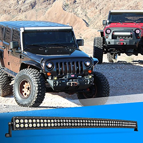 Nilight-50Inch-288W-Curved-LED-Work-Light-Driving-Fog-Lamp-LED-Light-Bar-Offroad-Lighting-for-SUV-UTE-ATV-Truck-4×4-Boat-2-years-Warranty