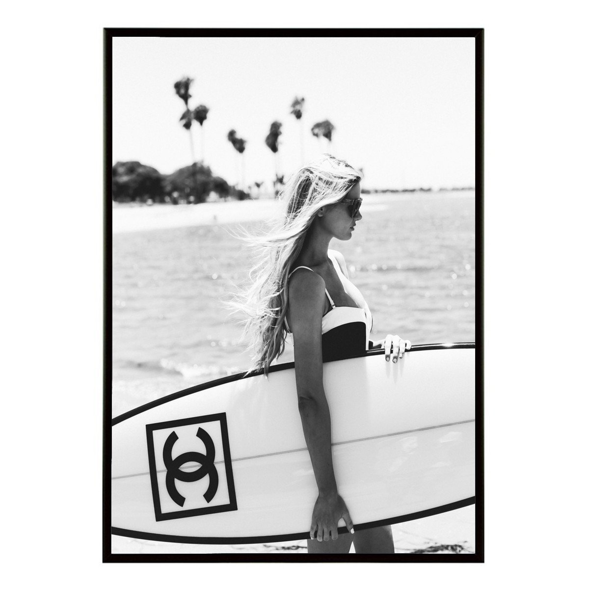 Aroma of Paris アートポスター おしゃれ インテリア 北欧 モノクロ アート #004 B3 ブラックフレーム B0795GZ296 B3 (364 x 515mm)|ブラックフレーム ブラックフレーム B3 (364 x 515mm)
