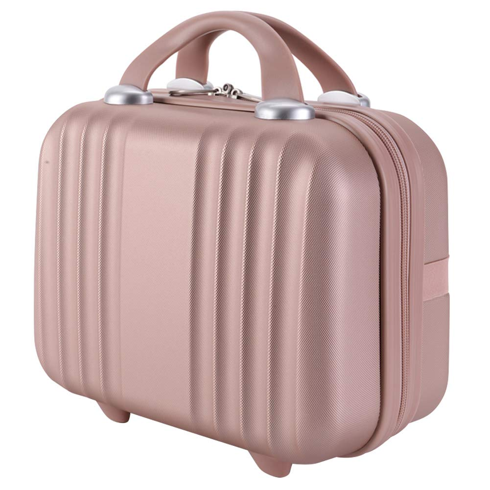 Exttlliy Mini Hard Shell Hard Travel Luggage Cosmetic Case, Small Portable Carrying Case Suitcase for Makeup