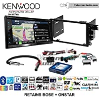 Volunteer Audio Kenwood DNX574S Double Din Radio Install Kit with GPS Navigation Apple CarPlay Android Auto Fits 2003-2005 Chevrolet Blazer, 2003-2006 Silverado, Suburban (Bose and Onstar)