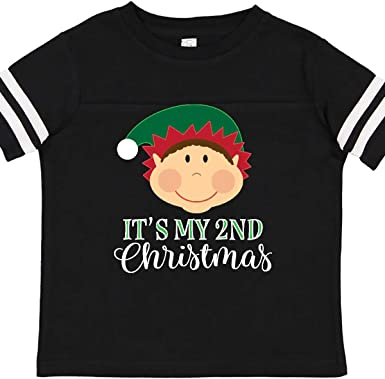 inktastic Christmas Reindeer Heart Holiday Toddler T-Shirt
