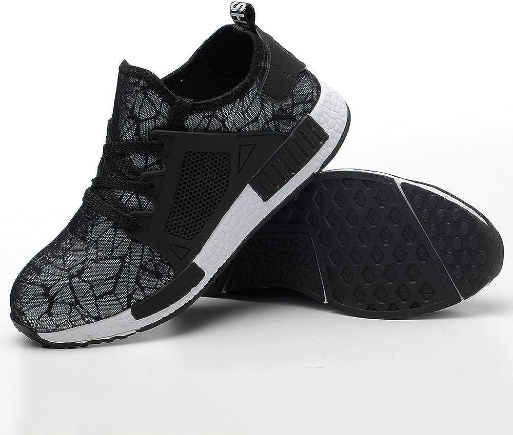 Gris01 43 Gainow Chaussures de s/écurit/é l/ég/ères Hommes Femmes Engrener Chaussures de Travail Toe Steel Toe Baskets protectrices Respirantes