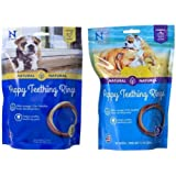 N-Bone Puppy Teething Rings Variety Pack - (6 Pack) Pumpkin Flavor and (6 Pack) Chicken Flavor