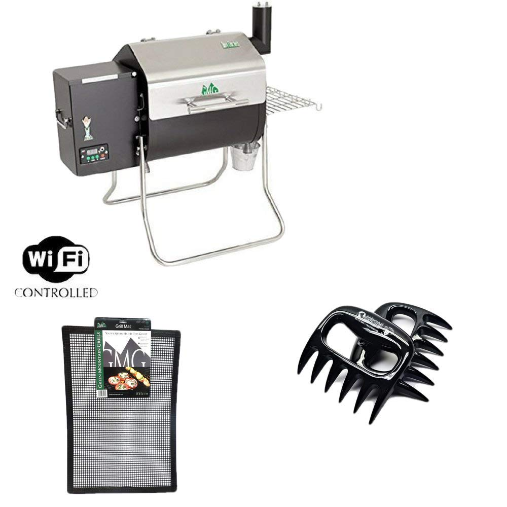Davy Crockett GMG Pellet Grill With BBQ Claws & Grilling Mat Combo Pack
