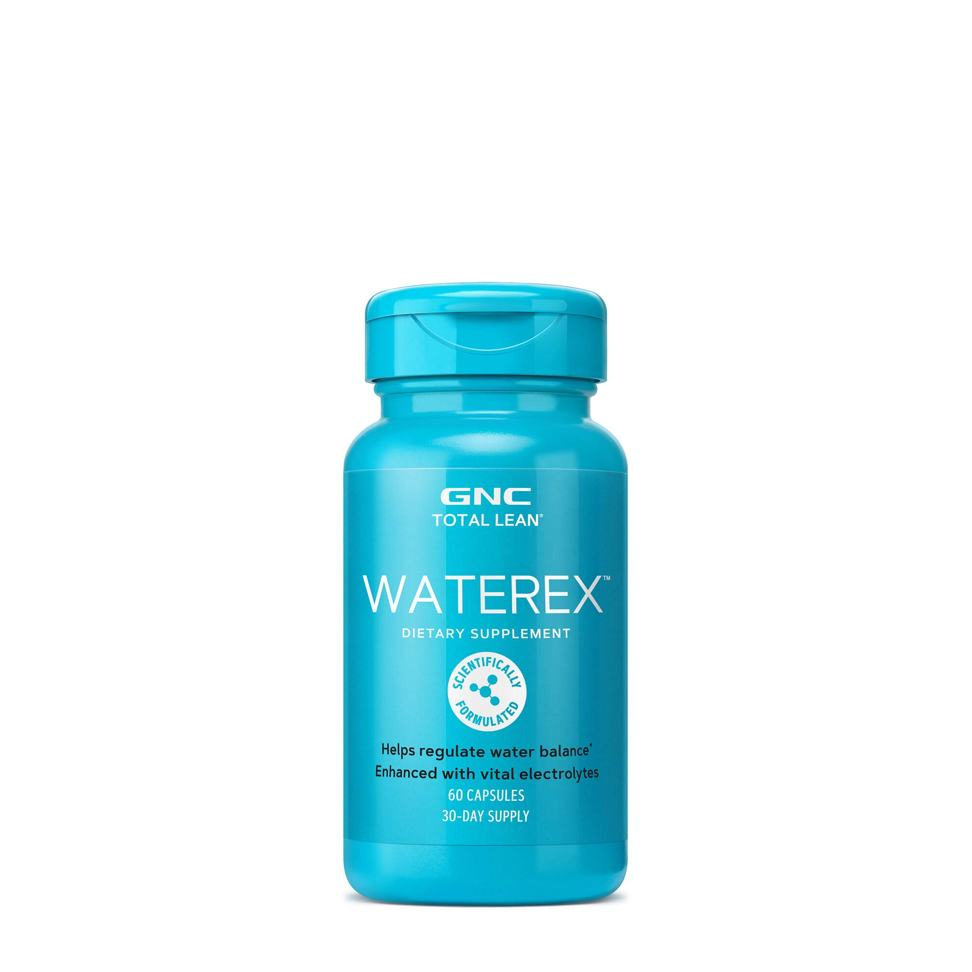 GNC Total Lean Waterex, 60 Capsules, Helps Regulate Water Balance