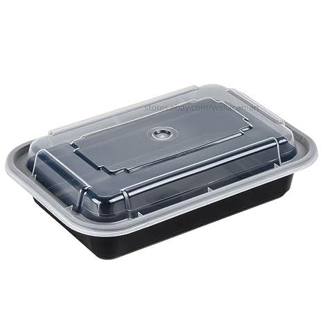 Amazon.com: 16oz comida Prep los contenedores de alimentos ...