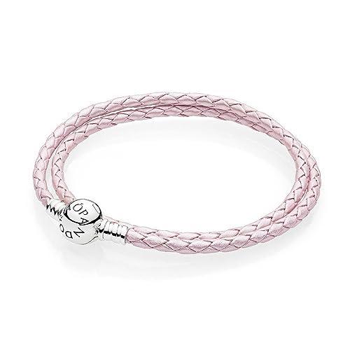 54640155c0e4 Pandora Pulsera cuerda Mujer plata - 590745CMP-D2  Amazon.es  Joyería