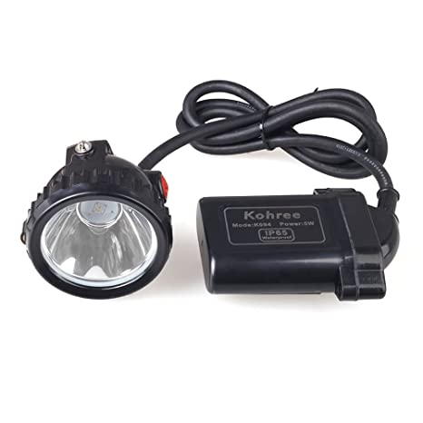 Kohree 5W KL6LM Waterproof IP65 LED Miner Headlamp with Smart Charger & Car Charger, Fit for Hog/deer/coon/coyote Hunting, Mining, Camping etc - Ringlit ...