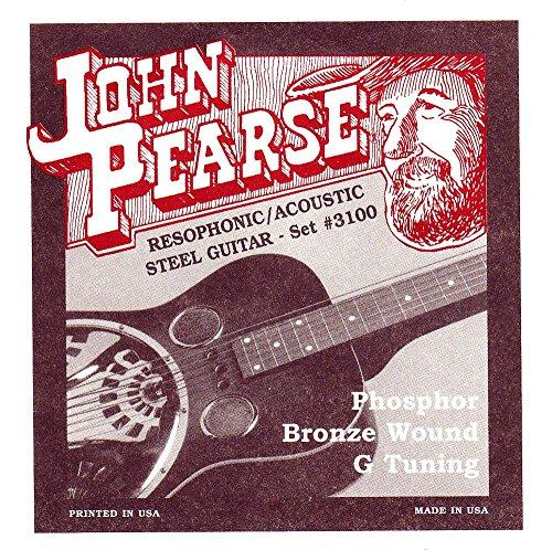 (John Pearse JP3100 Resophonic Acoustic Steel Guitar Bronze Wound G Tuning)