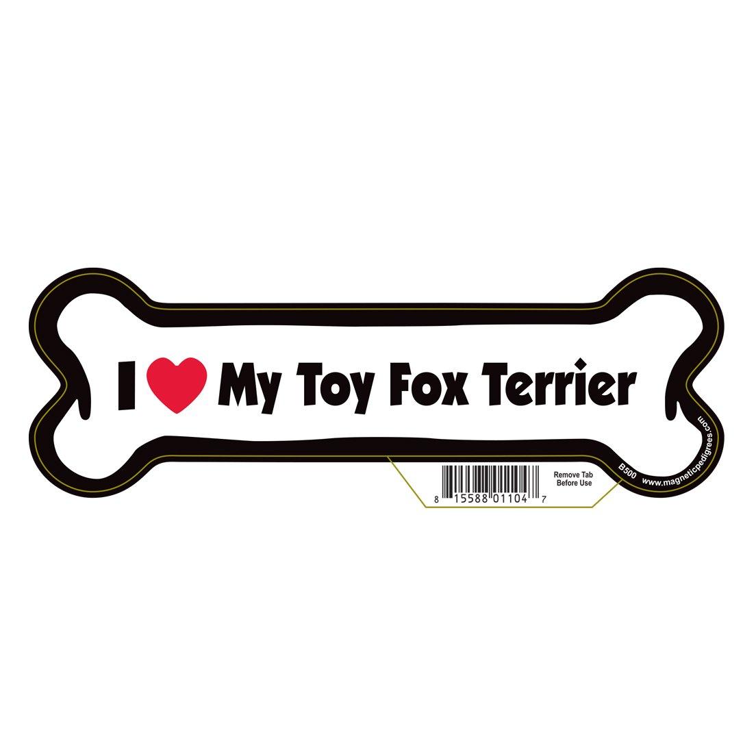 Pet Gifts USA Toy Fox Terrier Dog Bone Magnet