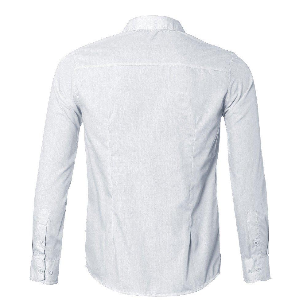 FRAUIT Camicia Uomo Slim Fit Manica Lunga Elegante Camicie Classica Uomo Rregular Fit Magliette Uomo Particolari con Bottoni Moda Uomo Primavera Maglietta Traspirante T Shirt Tinta Unita Vintage Tops