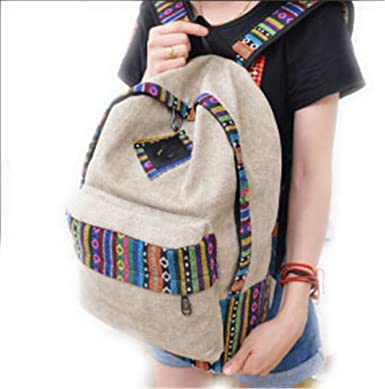 Amazon.com: Vintage School Backpack Women Schoolbags For ...