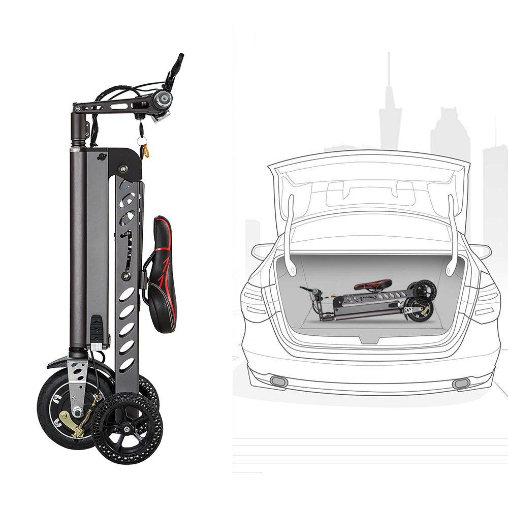 Topmate Mini bicicletas eléctricas, moda y inteligente electrónica vehículo Scooter Movilidad eléctrica triciclo eléctrico bicicleta plegable y portátil, ...