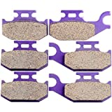quest 650 - ECCPP Kevlar Carbon Fiber Brake Pads Motorcycle Replacement Front and Rear Braking Pads Kits Set for 2002-2004 Bombardier Quest 500 4X4 2003
