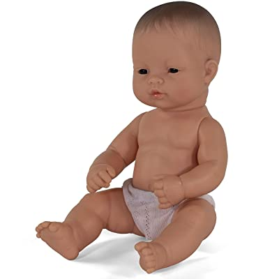 Miniland Educational - 12.63\'\' Anatomically Correct Newborn Baby Doll, Asian Boy: Toys & Games [5Bkhe0501562]