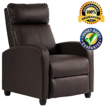 Outstanding Amazon Com Single Recliner Chair Modern Pu Leather Chaise Creativecarmelina Interior Chair Design Creativecarmelinacom