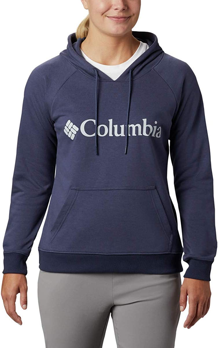 Cotton Blend Columbia Womens Logo French Terry Hoodie
