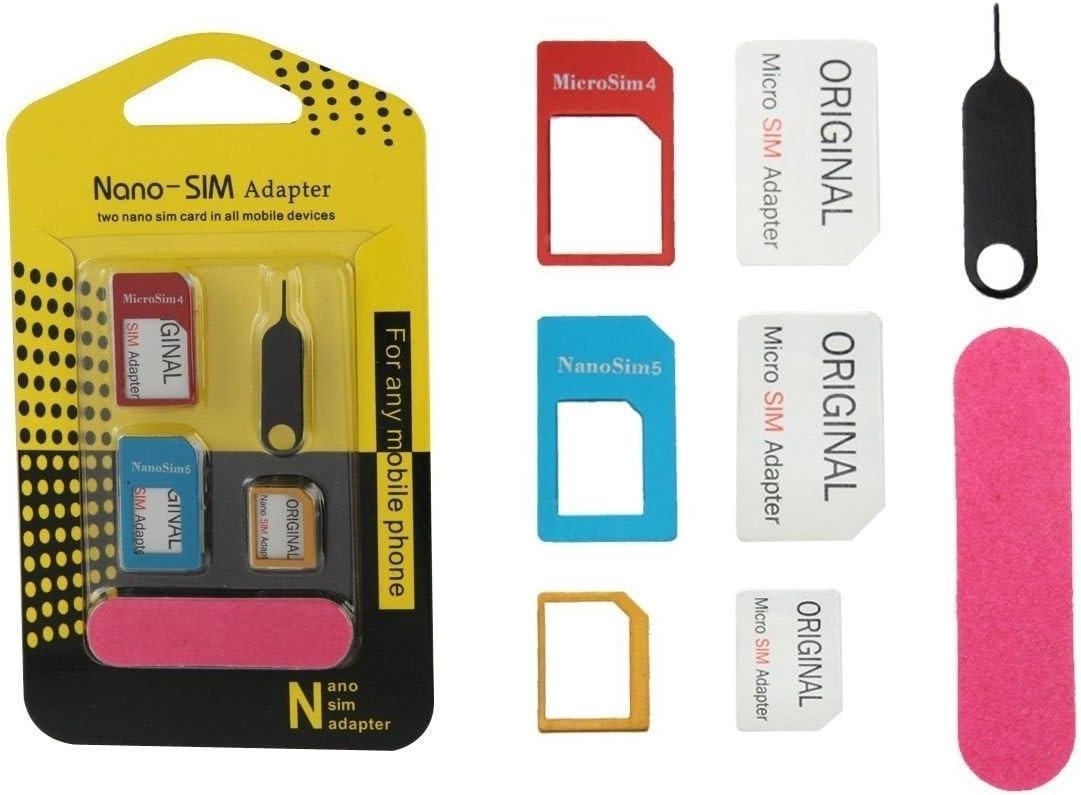 Original xikon® 5 en 1 Nano SIM y micro SIM Adaptador – Completo 5 ...