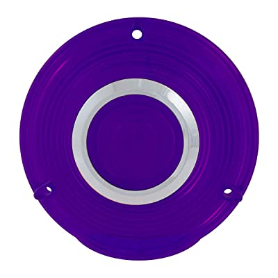 GG Grand General 86723 4 inches 3 Screw Purple Plastic Lens w/Cr. Rim: Automotive