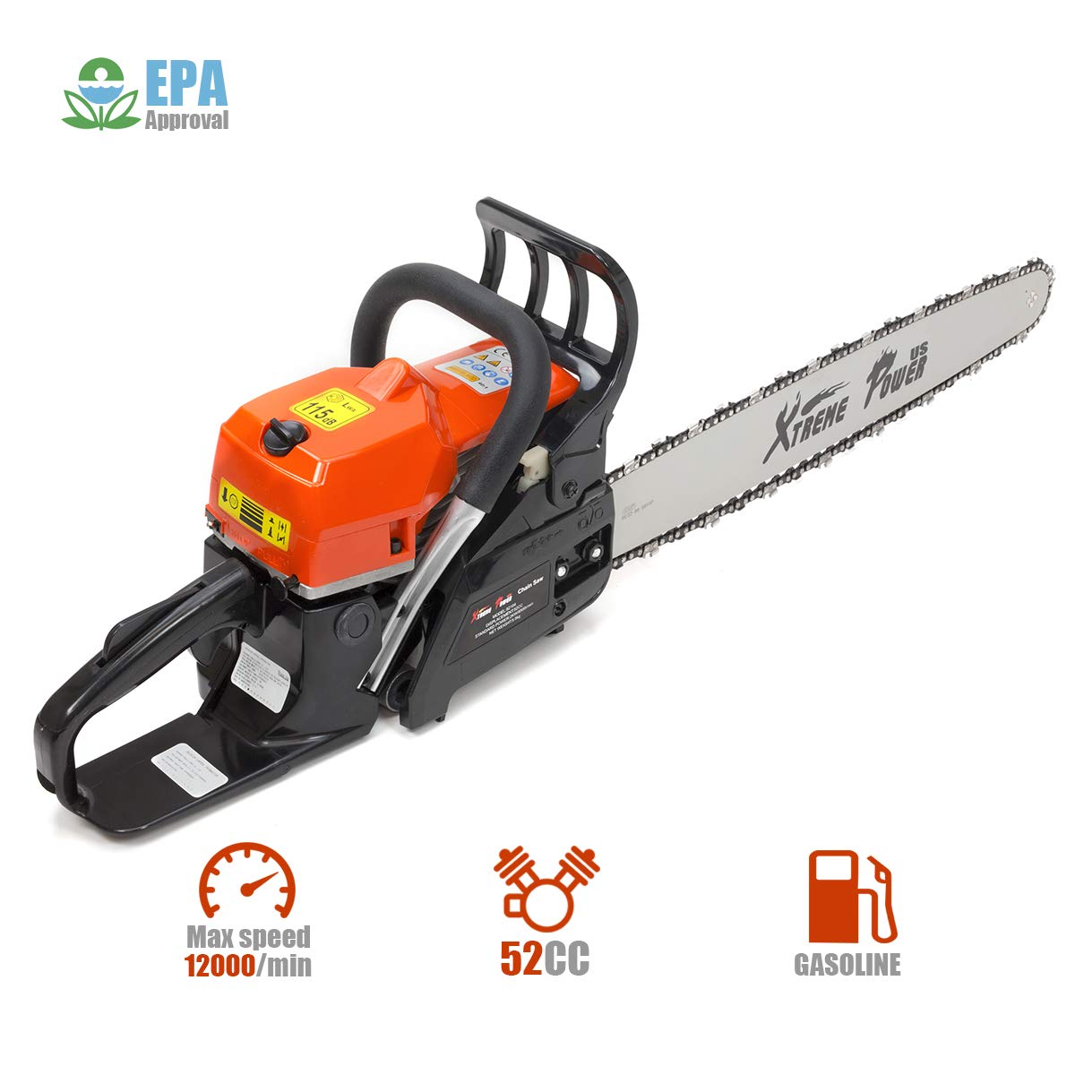 XtremepowerUS 52cc 2 Stroke Chainsaws product image 3