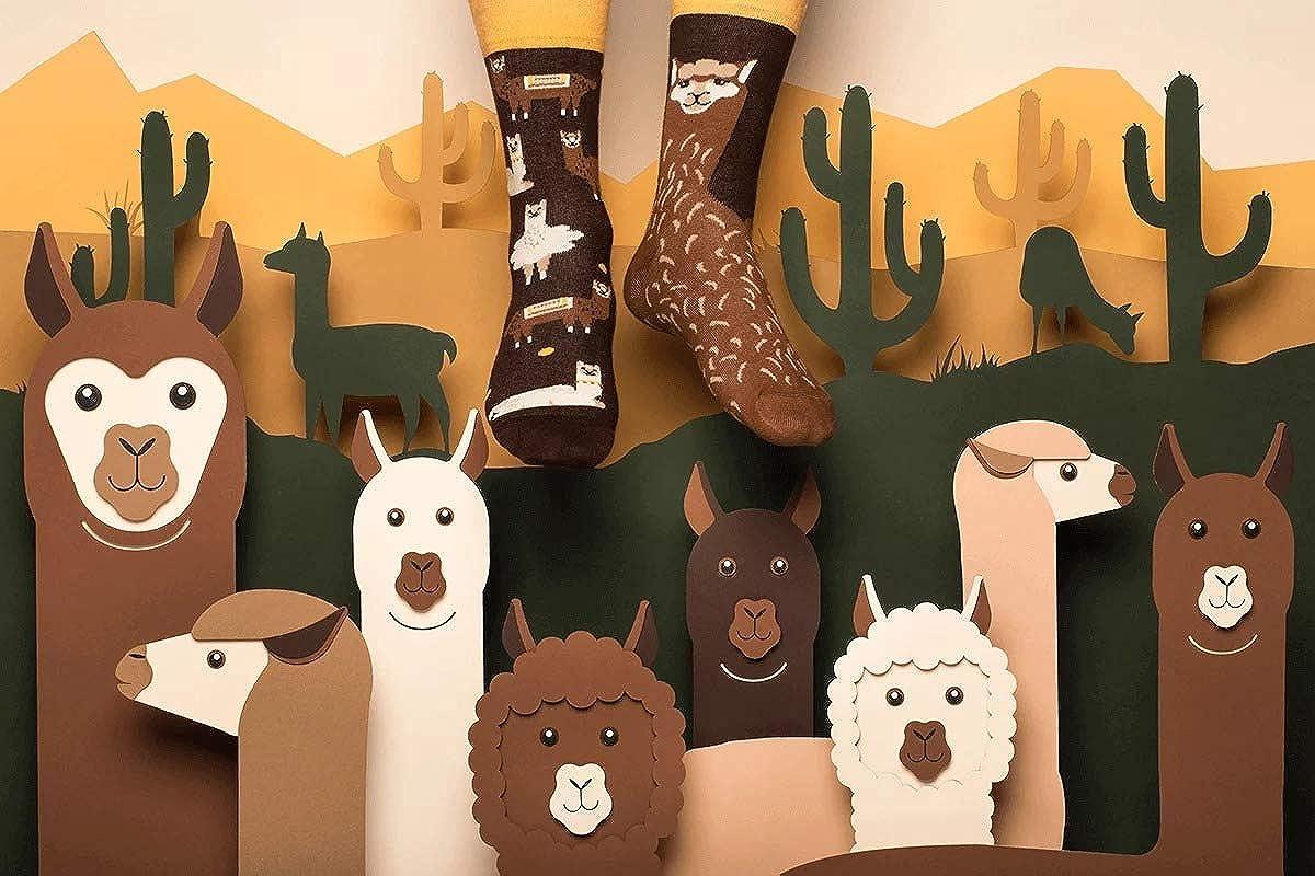 Many Mornings Socken Kinder Fluffy Alpaca Kids
