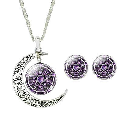 Collar + pendientes Amuleto místico de Salomón