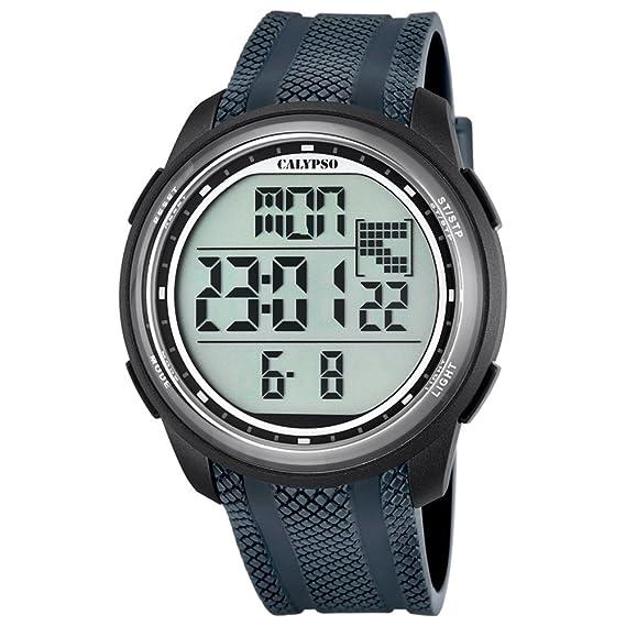Calypso UK5704/6 - Reloj digital para hombre, cuarzo y correa de PU, color gris: Calypso: Amazon.es: Relojes