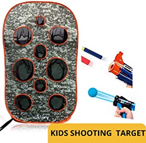 wishery Kids Large Target Compatible with Nerf Mega, Fortnite, Rival, N-Strike Elite Series Guns, Ball Guns. Outdoor Shooting Practice with net.Party, War Games, Gift, Toys for Boys & Girls