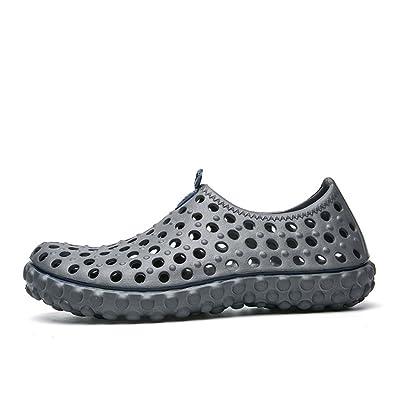 Moulan Beach Sandals Casual Slippers Men Water Shoes Beach Flip Flops Clogs Gray