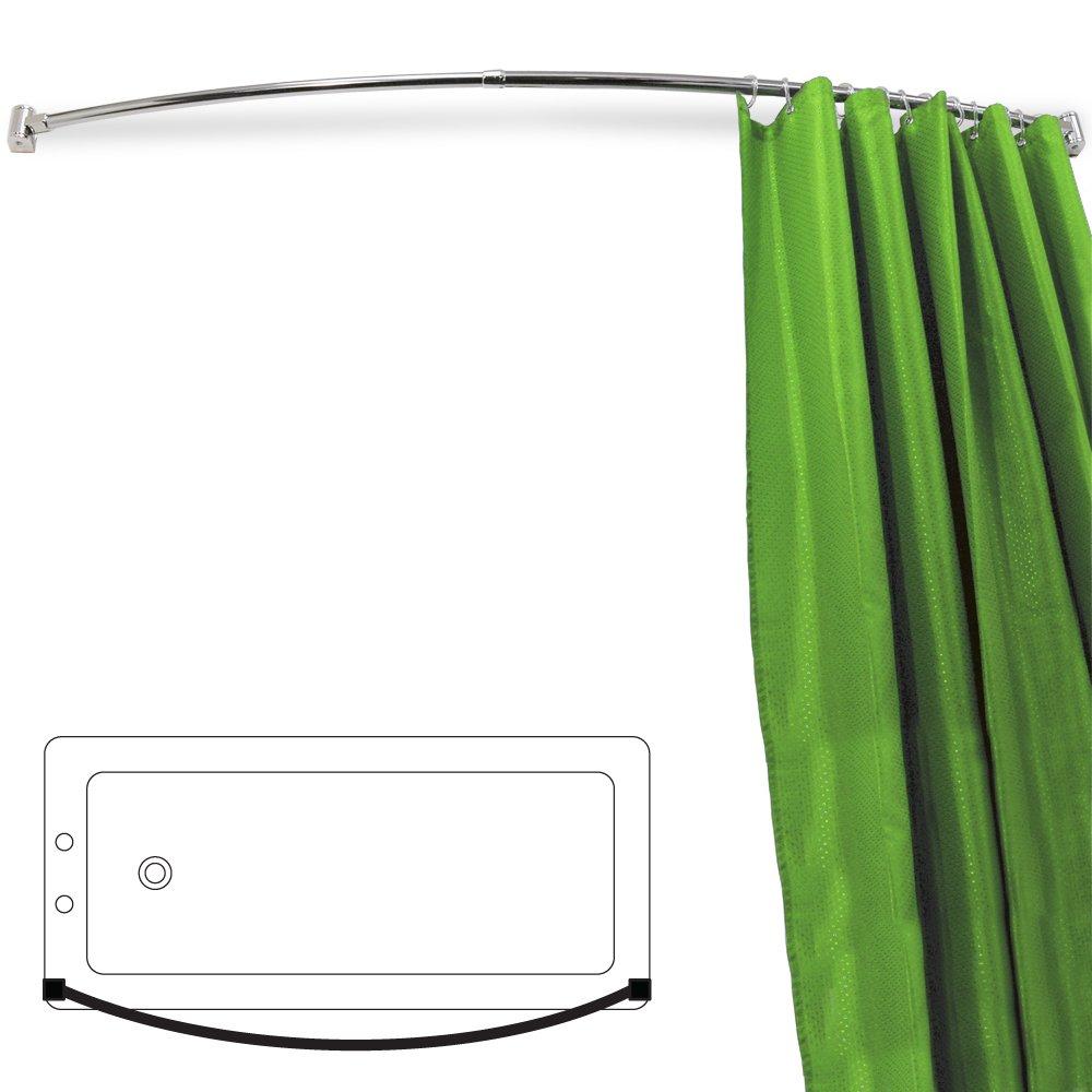 ARC - Curved Extendable 110cm - 196cm Chrome Shower Curtain Rail ...