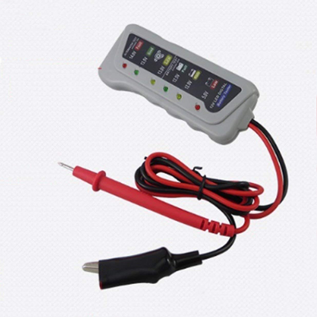 Banbie Tragbare LED Digital Batterie Tester Ladesystem Analyzer Mit DREI Led-anzeige F/ür 12 V Autos Motorr/äder