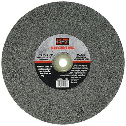 """K-T Industries 5-7208 Medium 8"""" x 1"""" Bench Grinder Wheel"""