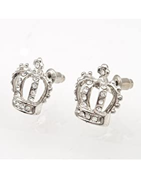 Silver Crystal Crown Stud Earrings Very Pretty Girly Juicy Couture ... 3ad374fdd
