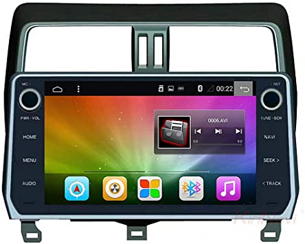 Multimedias Del Coche De 12.3 Pulgadas 1024 × 600 HD Pantalla Capacitiva Inteligente De Voz/Retroceso Prioridad/WIFI/Apoyo TF Android 6.1.1 Sistema Adecuado Para 18 Toyota Prado Dominante: Amazon.es: Coche y moto