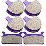 Kevlar Carbon Brake Pads ECCPP Motorcycle Replacement Brake Pads Sets Front and Rear for 1986-1999 Harley Ultra Electra Glide Classic