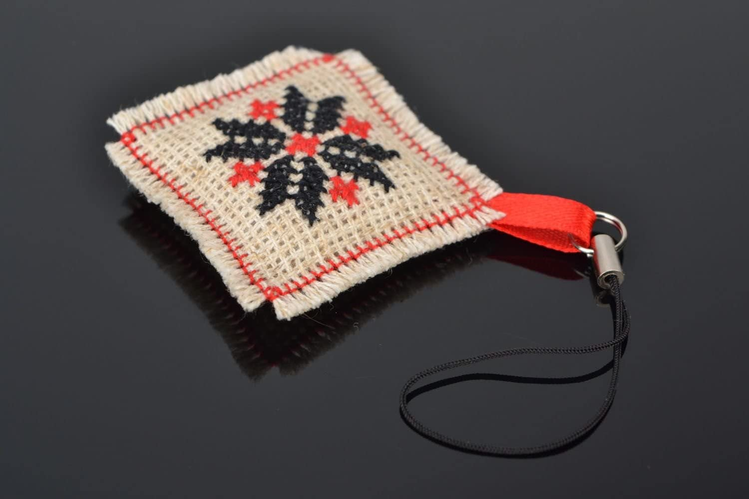 Star Of Life Keyring-Embroidered Design-Add Name//Company//Phone Number