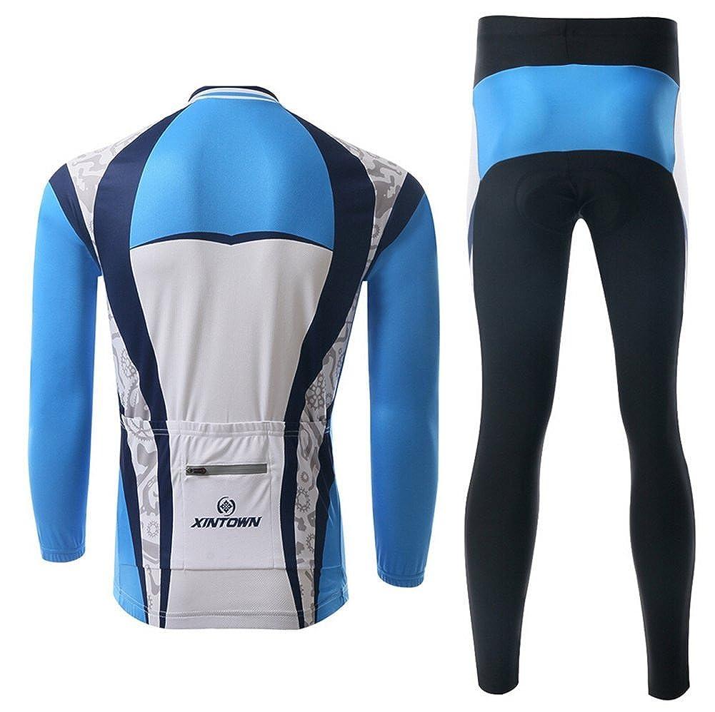 Xinzechen Unisex Polyester Cycling Jersey Long Sleeve and 3D ...