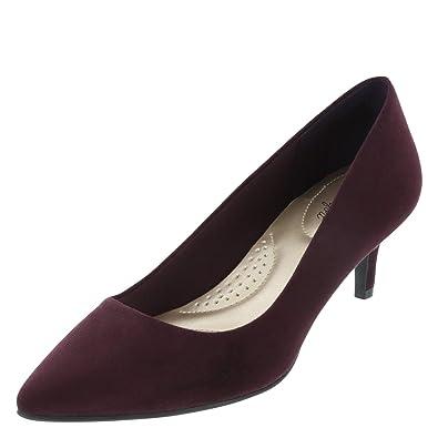 6e66f2329e9 dexflex Comfort Black Violet Suede Women s Jeanne Pointed-Toe Pump 5 Regular