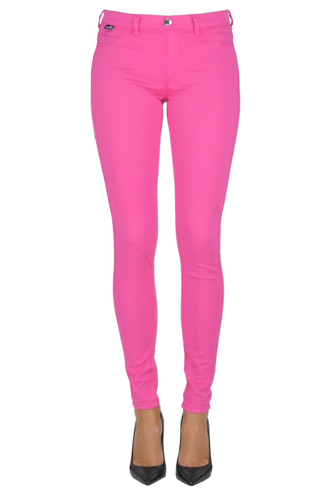Love Moschino Women's Mcgldnm03036e Fuchsia Cotton Jeans