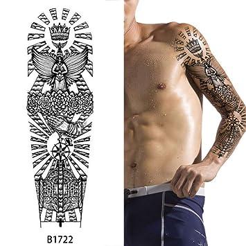 Diseño hoja grande brazo completo tatuaje pegatina cuerpo pierna ...