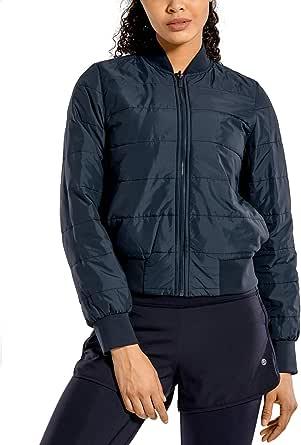 CRZ YOGA Women's Winter Coats Full Zip Lightweight Warm Packable Jacket Outerwear with Pockets