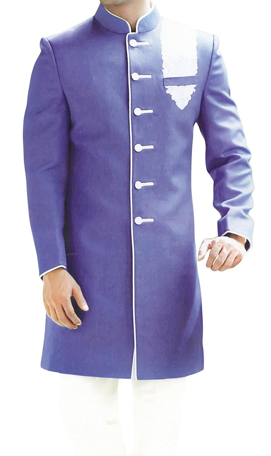 INMONARCH Mens Classic Look Purple Indo Western IN406
