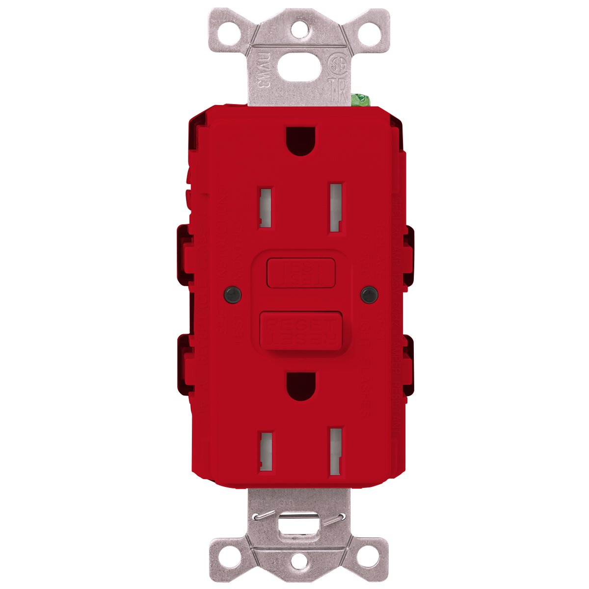 Lutron SCR-15-GFST-MS Scr-15-Gfst-St Claro Satin Colors 15-Amp Self-Testing Receptacle Mocha Stone