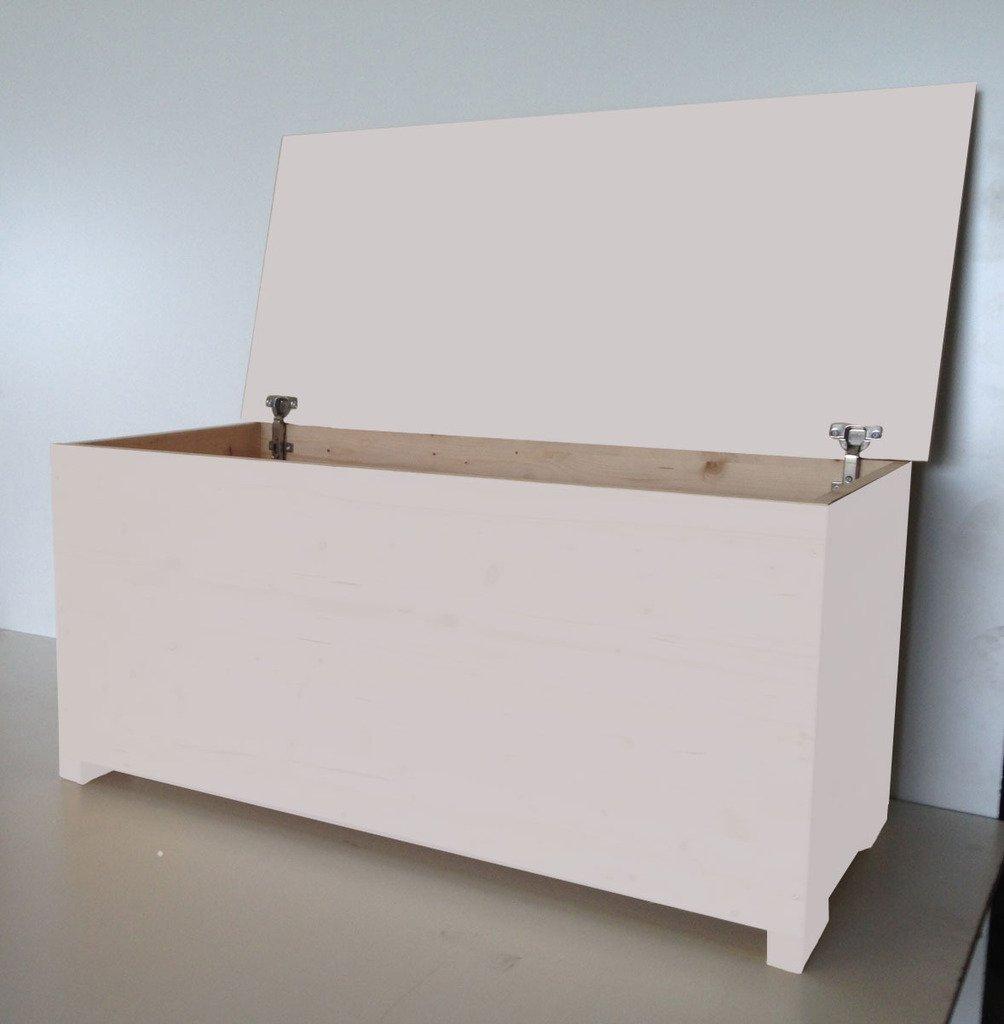 Amico Legno Cassapanca in multistrato con cerniera interna Cod 59 100x45x47 Smalto Ad Acqua Colore Rosa