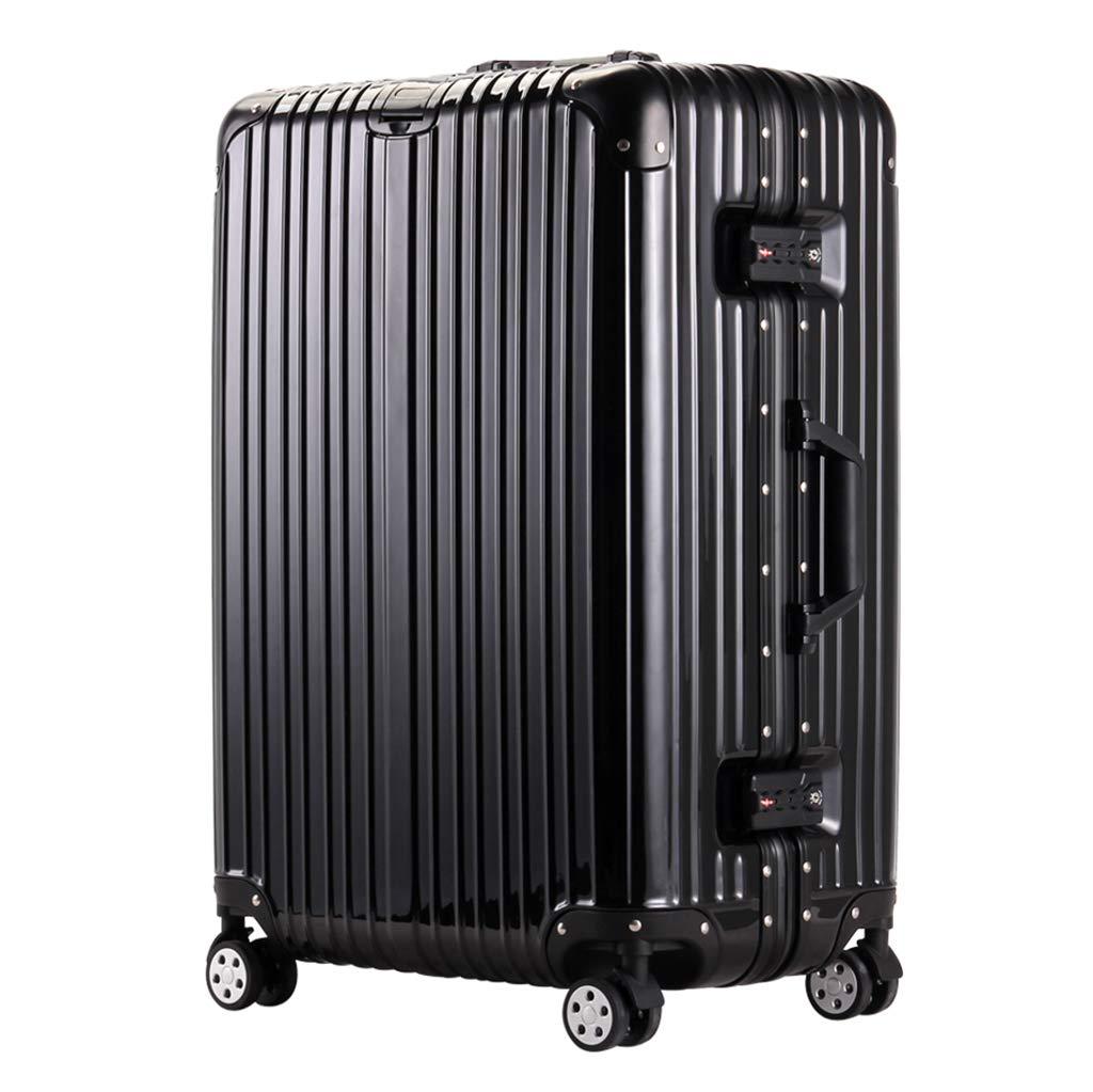 ローリングラップトップケース、軽量キャリーオン荷物|ビスタプリントスモールスーツケース、4輪、ABSハードシェルトラベルバッグ、TSAロック付き(20インチ、34 x 27 x 54 cm) 34x27x54cm Black B07Q1WJ87G