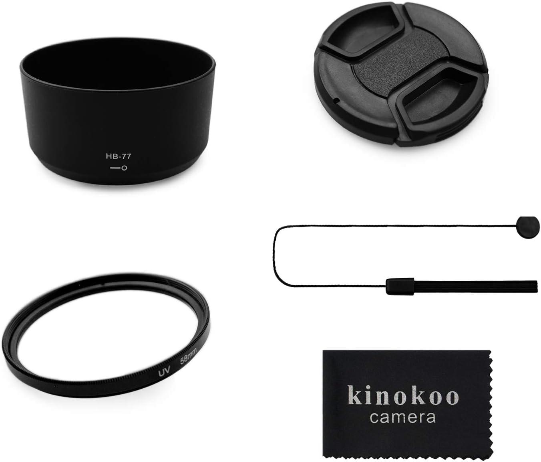 Kinokoo 58mm Uv Filter Kameraobjektiv Zubehörsatz Für Kamera