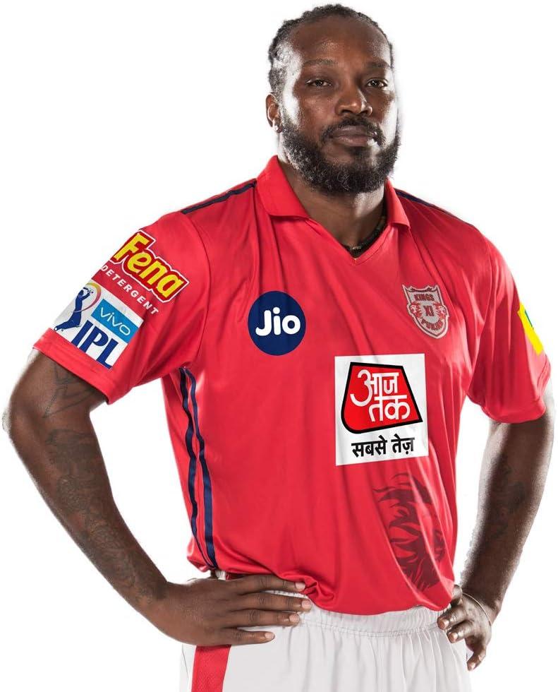 KXIP Official Kings XI Punjab 2019 Vivo IPL Player Jersey//Shirt